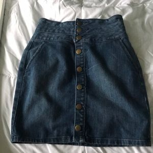 Light wash blue denim skirt high wasted
